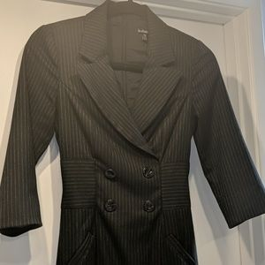 Le Chateau pinstripe double breasted suit dress